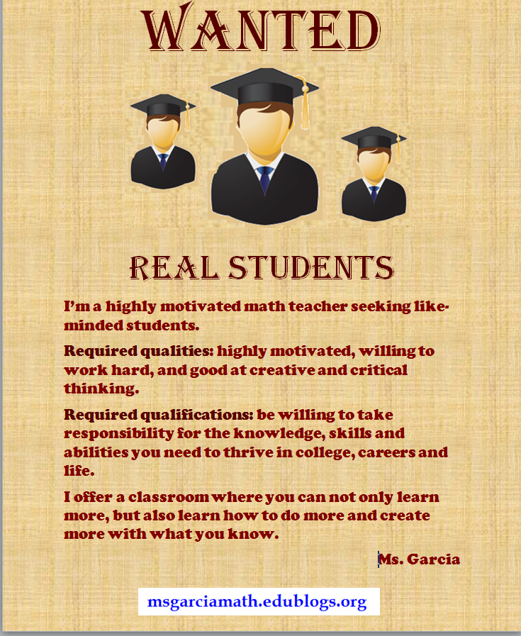 Wanted Real Students